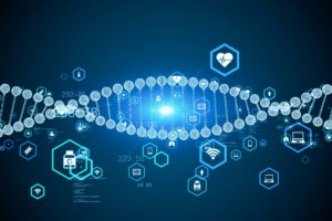 Genetic engineering concept. DNA. Gene therapy. Medical technology.
