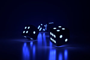 Four Glowing Dice