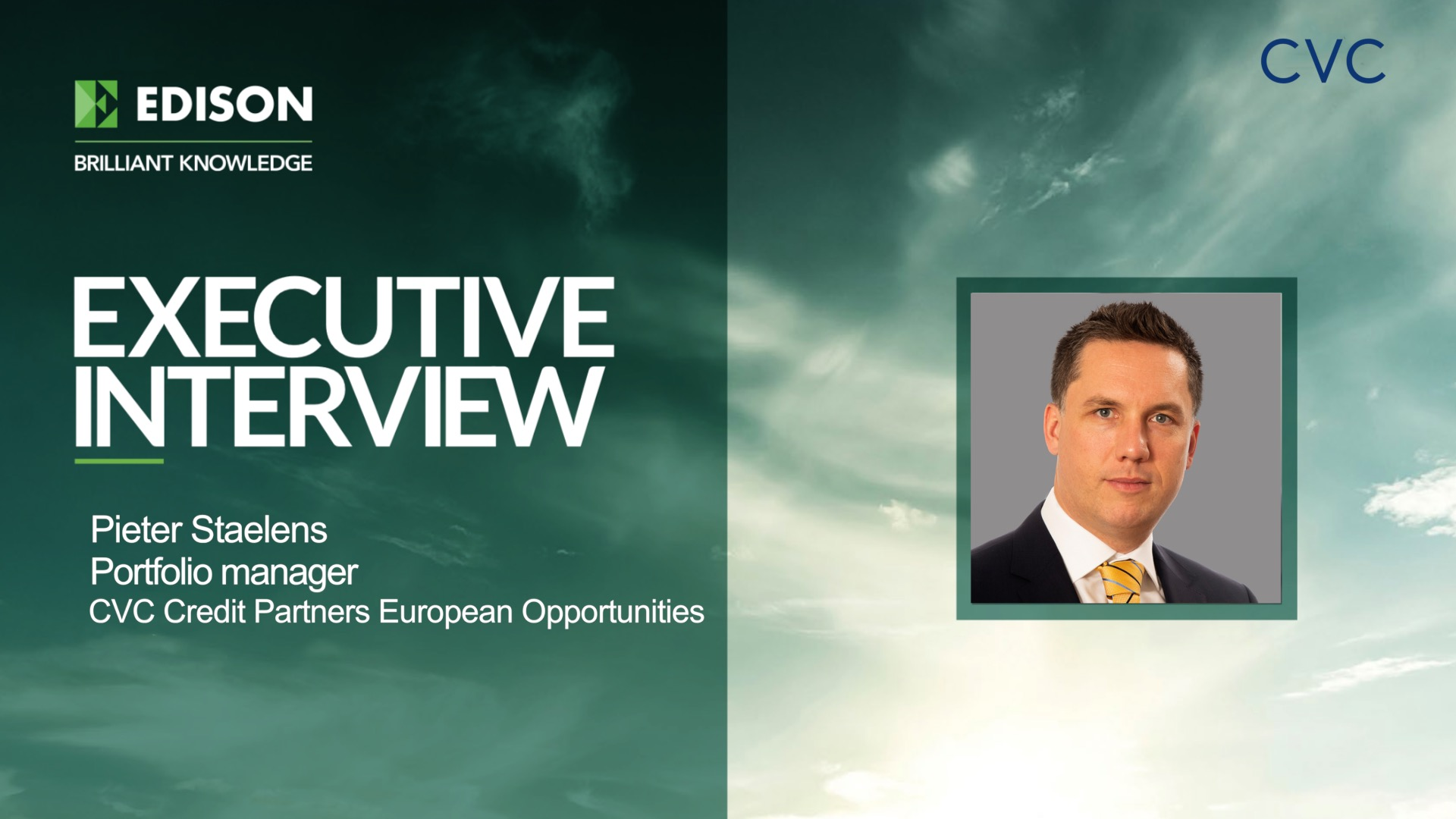 CVC Credit Partners European Opportunities Fund - executive interview